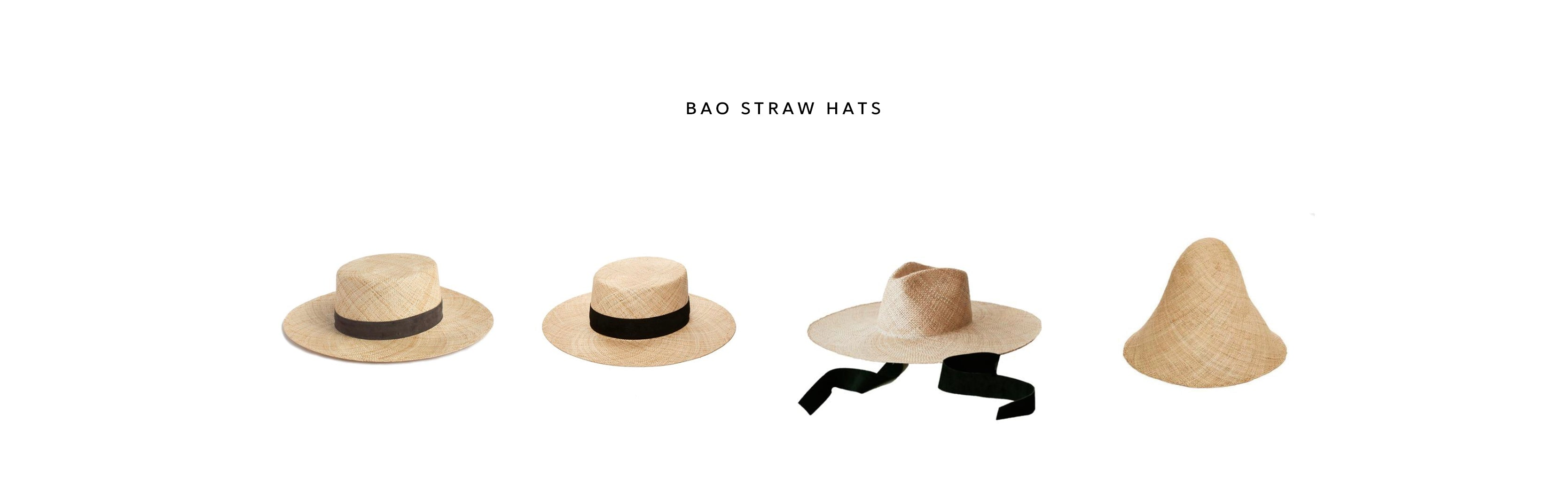 bao straw hats by janessa leone hats that are sustainable natural