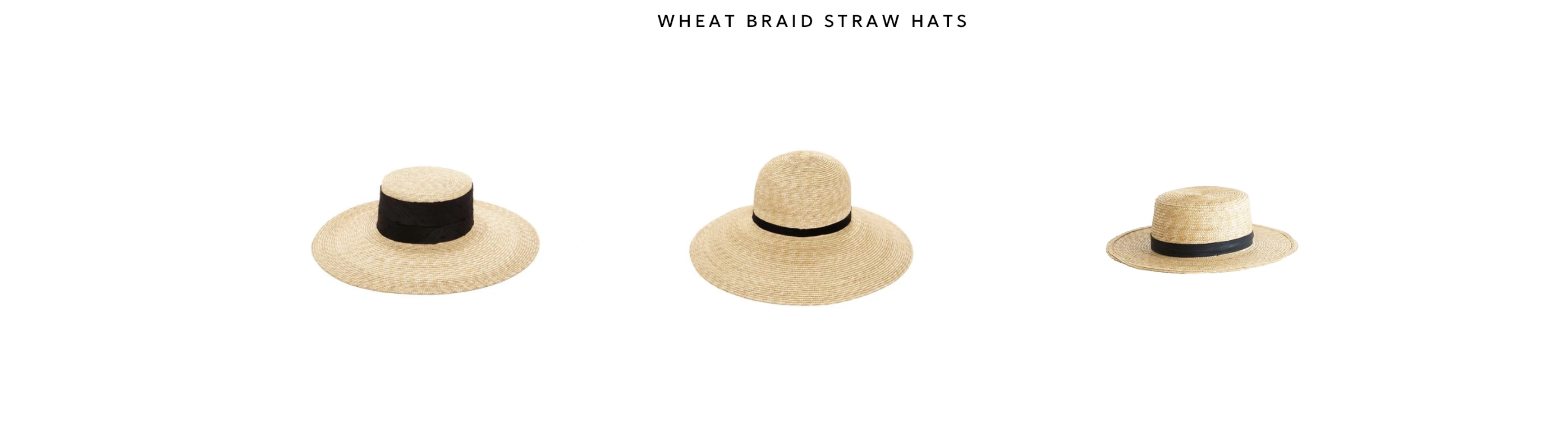 Wheat braid straw hats by janessa leone about our straw hats