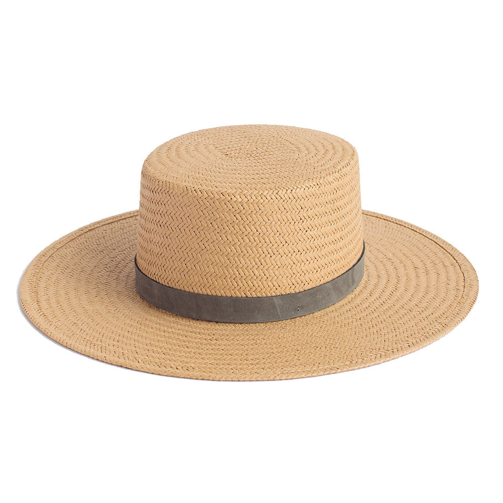 JANESSA LEONE - Natural Packable Straw Boater - Alaia