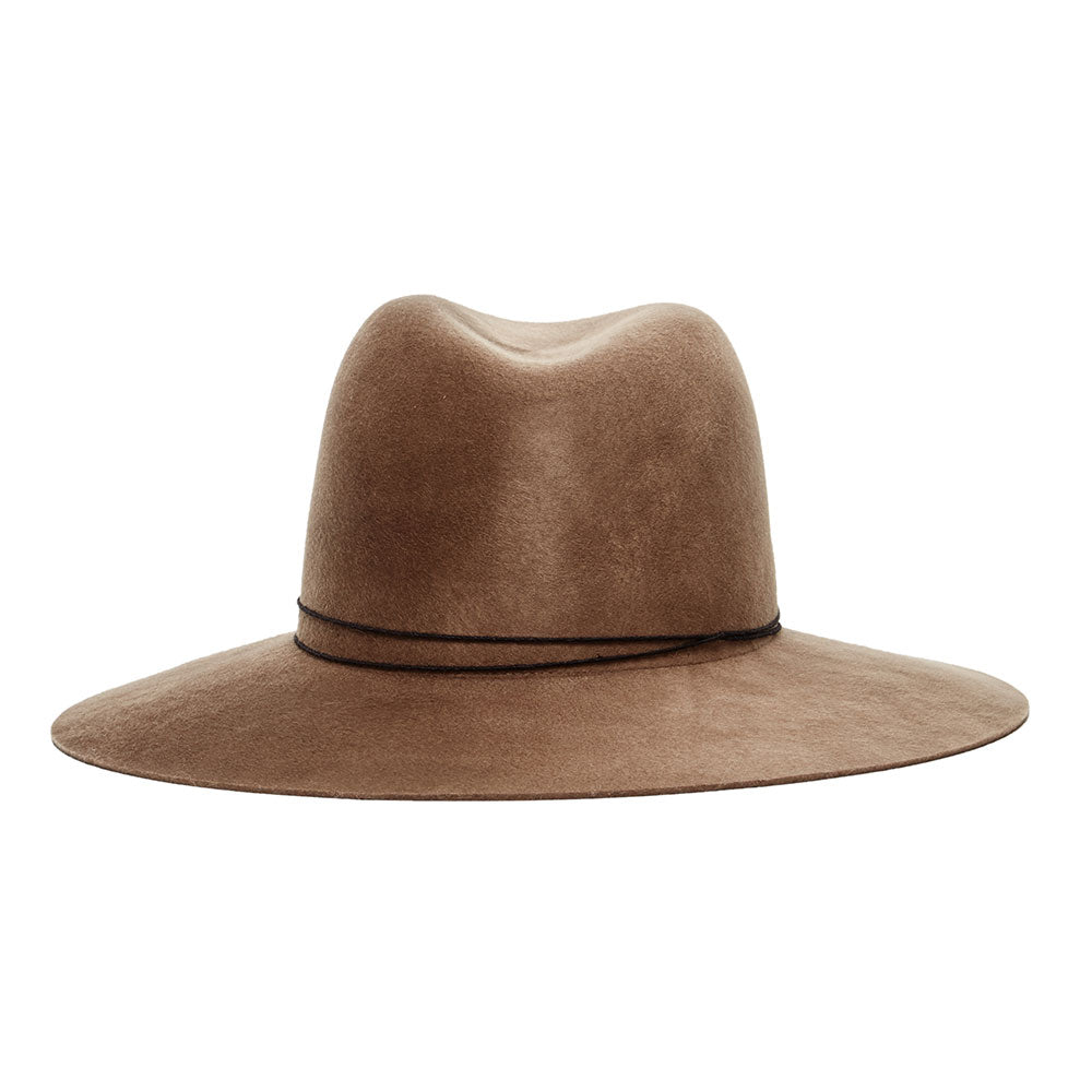 87c515bb5 JANESSA LEONE - Wool Felt Fedora in Camel Wool - Billie