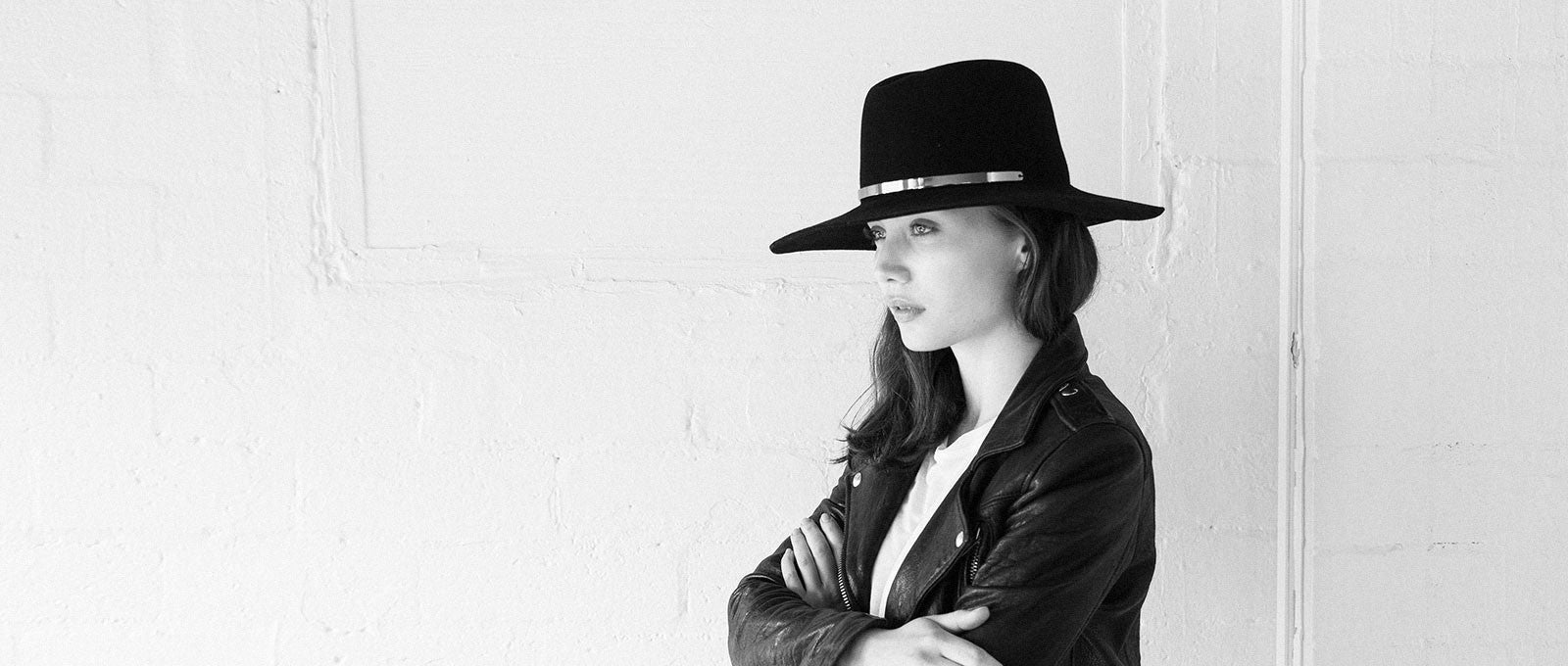 JANESSA LEONE - Wool Felt Fedora in Black - Ila Exclusive