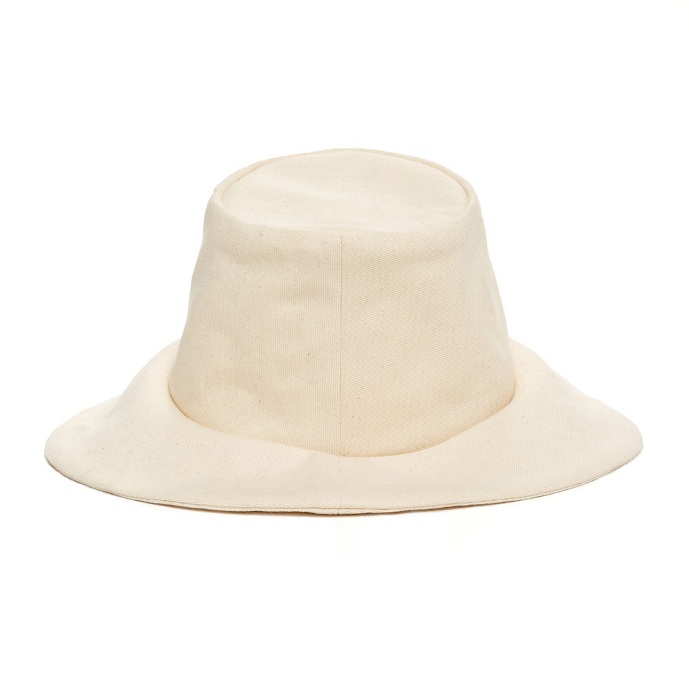 Janessa Leone Summer Women's Hats Summer Spring Hats made for the beach and traveling | long brimmed linen hats ivory natural cream cotton hat bucket natural black and white bucket hat bucket hat for women | bucket hats with long brim | short brimmed bucket style women's hat | Sun protective hat with thick cotton fabric thick linen bucket hat | Beach travel hat women's bucket hat unique luxury chic hat