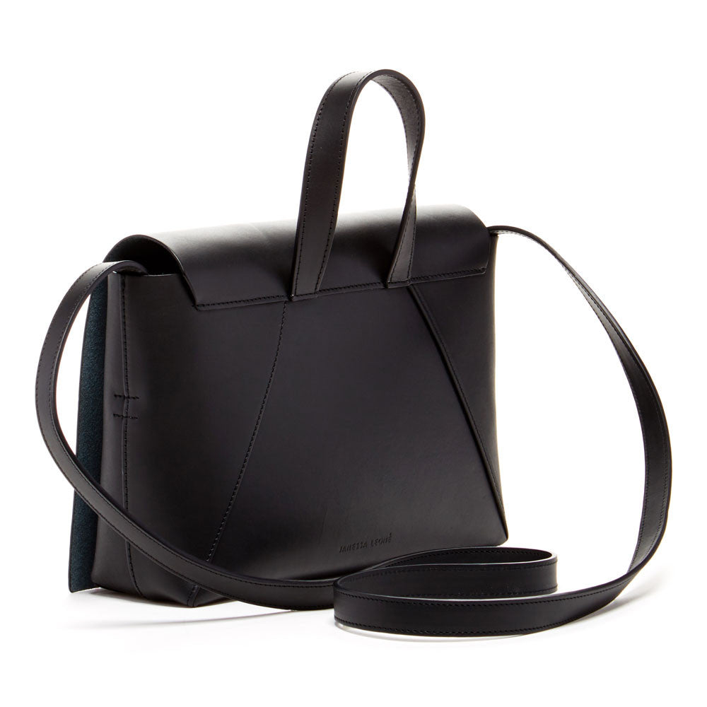 JANESSA LEONE - Leather Crossbody Black - Joan