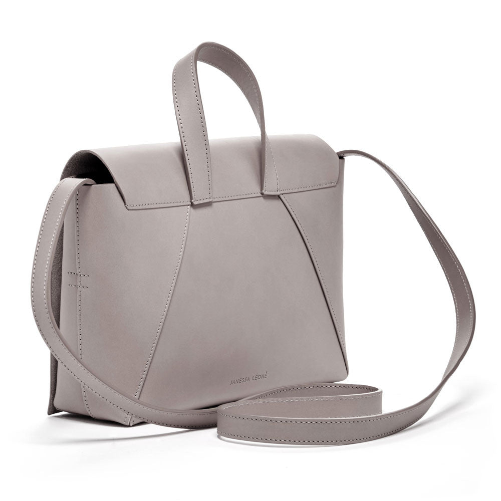 JANESSA LEONE - Leather Crossbody Grey - Joan