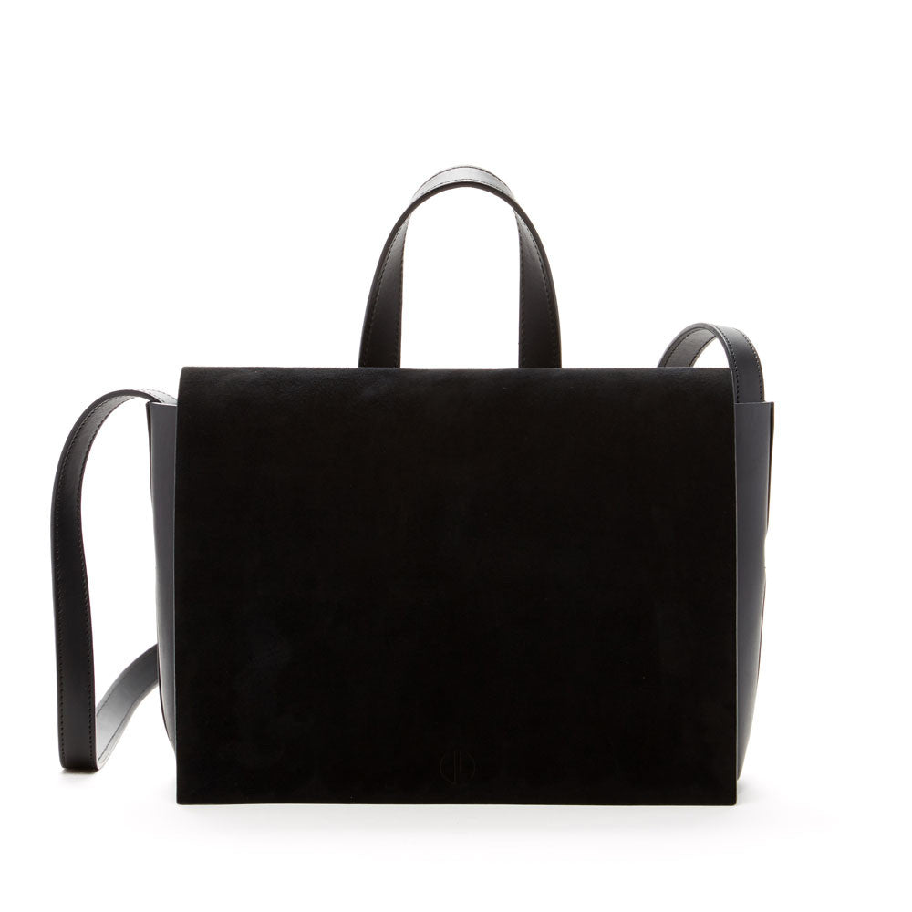 JANESSA LEONE - Leather Crossbody Black - Joan Suede