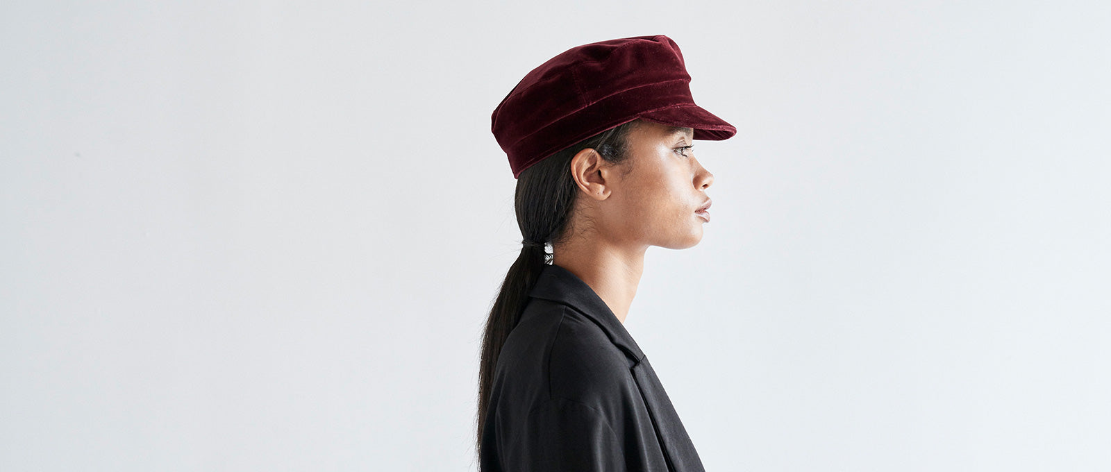 7c87c71fb JANESSA LEONE - Velvet Fisherman Cap in Rust - Mattie