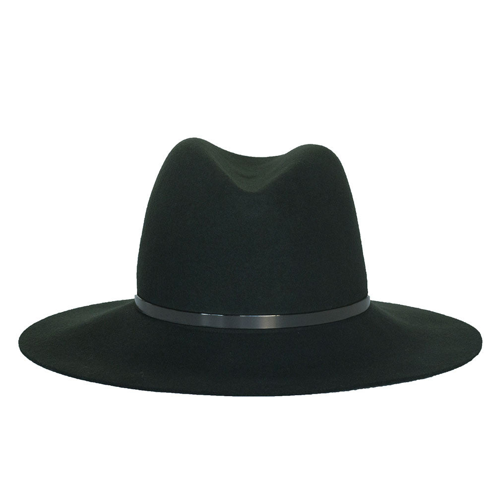 JANESSA LEONE - Panama Straw Fedora in Olive - Sienna Exclusive