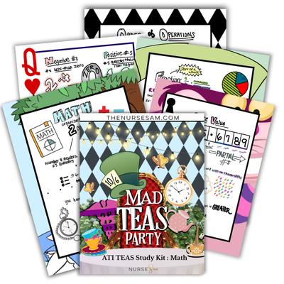 ATI TEAS Math Study Kit - The Nurse Sam