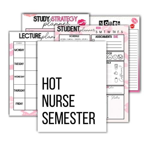 Hot Nurse Semester Nursing School Worksheets - The Nurse Sam