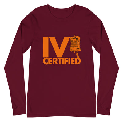 'IV Certified' Long Sleeve Tee - The Nurse Sam