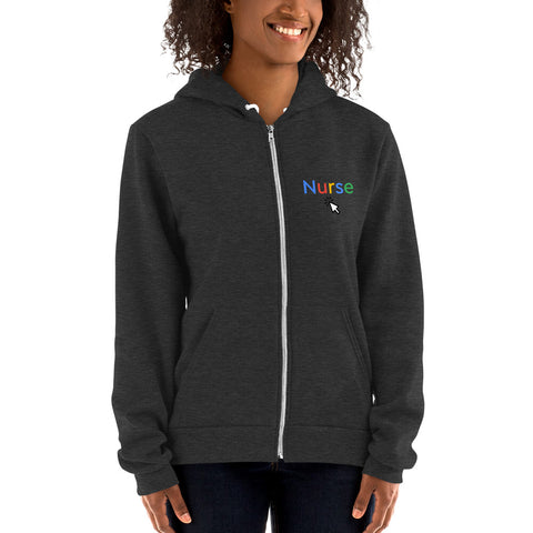 Google Nurse Zip Up Hoodie - The Nurse Sam