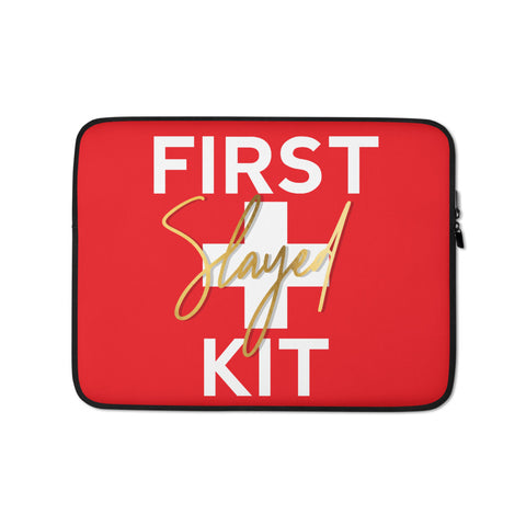 'First Slayed Kit' Laptop Sleeve - The Nurse Sam