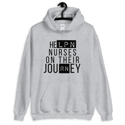 'HeLPN Nurses On Their JouRNey' Hoodie - The Nurse Sam