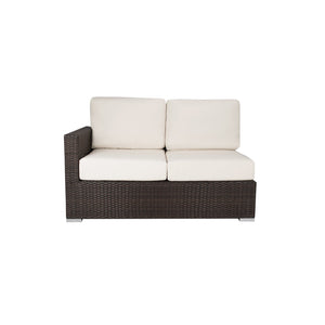 La Jolla Left Arm Loveseat - Espresso | Your Patio Store