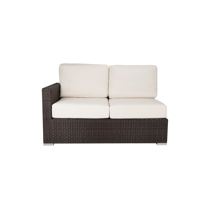 La Jolla Left Arm Loveseat - Espresso w/ Standard Cushion