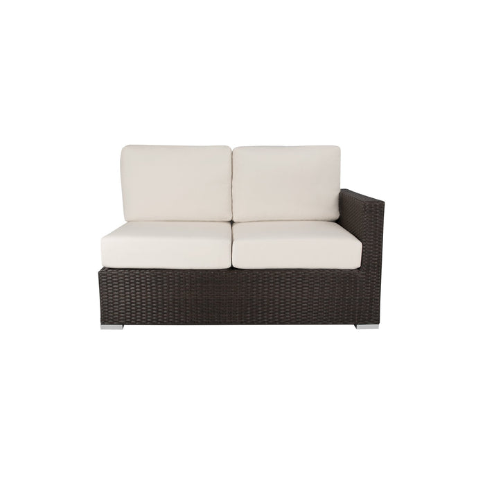 La Jolla Right Arm Loveseat - Espresso w/ Std Cushion