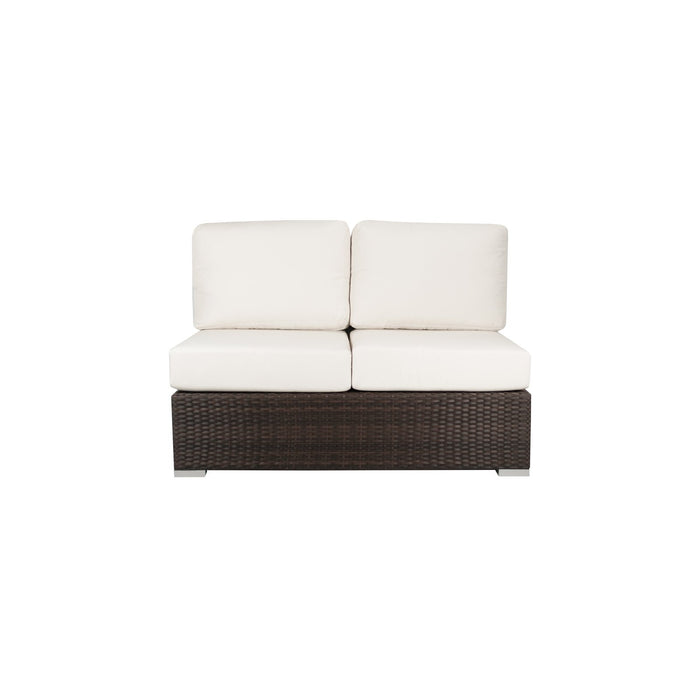 La Jolla Armless Loveseat - Espresso w/ Std Cushion