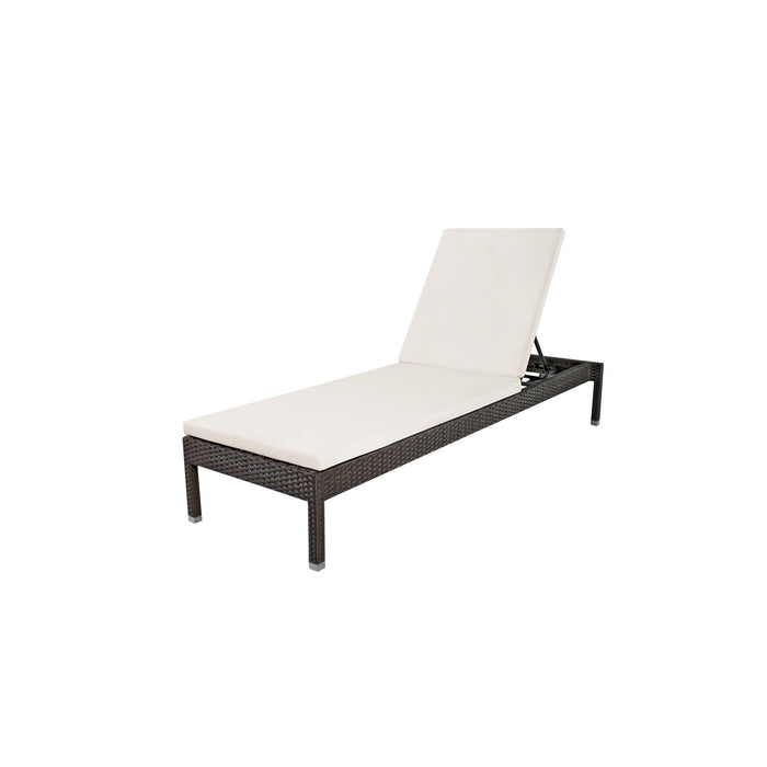 La Jolla Armless Chaise - Espresso No Cushion