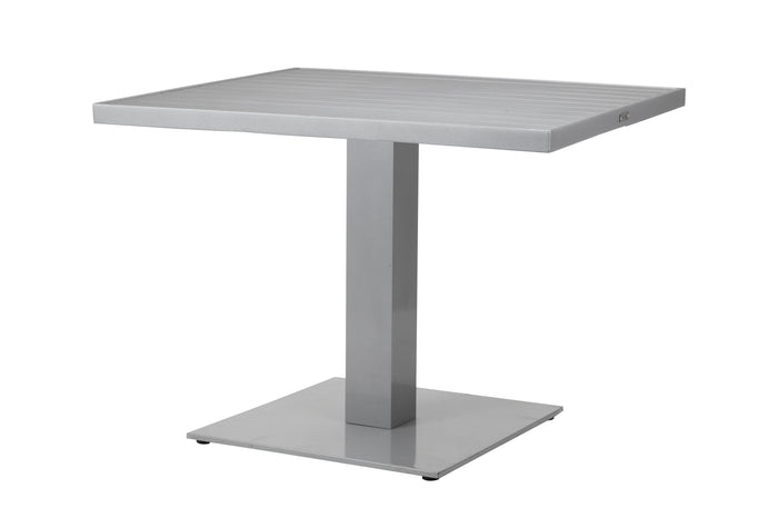 "Corsa 32"" Square Pedestal Dining Table - Tex Pewter"