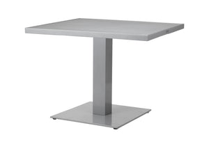 "Corsa 36"" Square Pedestal Dining Table - Tex Black"