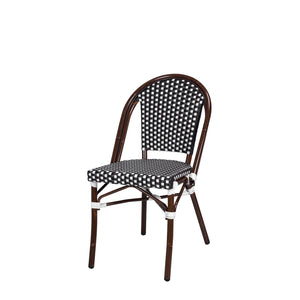 Engram Dining Side Armless Chair Black and White RH Patio