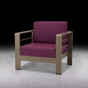 Orion Club Chair - Silver Vein