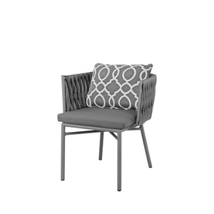 Aegean Dining Arm Chair - Gray | Your Patio Store