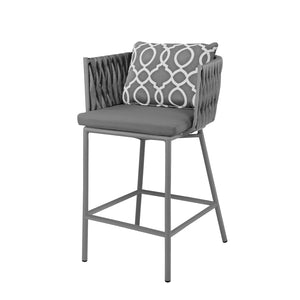 Aegean Bar Arm Chair - Gray | Your Patio Store