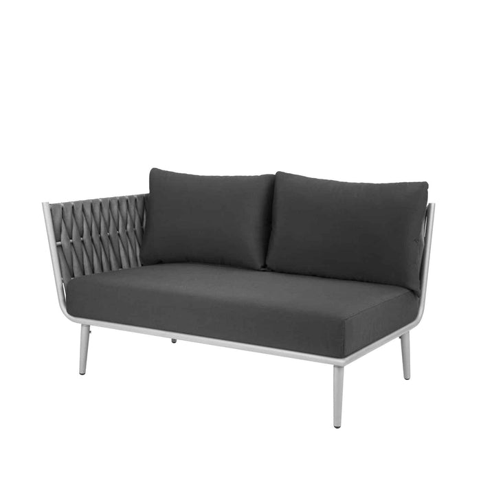 Aegean Left Arm Loveseat - Gray