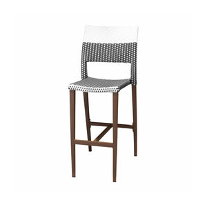 Coronado Bar Side Armless Chair - Espresso Frame with Espresso & White Duraweave | Your Patio Store