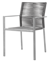 Aspen Dining Arm Chair - Charcoal Durarope