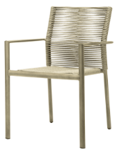 Aspen Dining Arm Chair - Pewter Durarope
