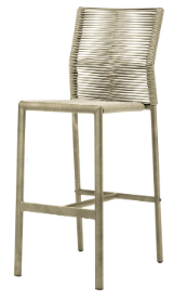 Aspen Bar Side Stool - Pewter Durarope