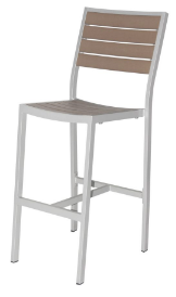 Naples Bar Side Chair (Silver Frame & Gray Durawood)