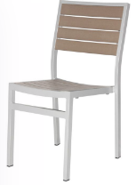 Naples Dining Side Chair (Silver Frame & Gray Durawood)