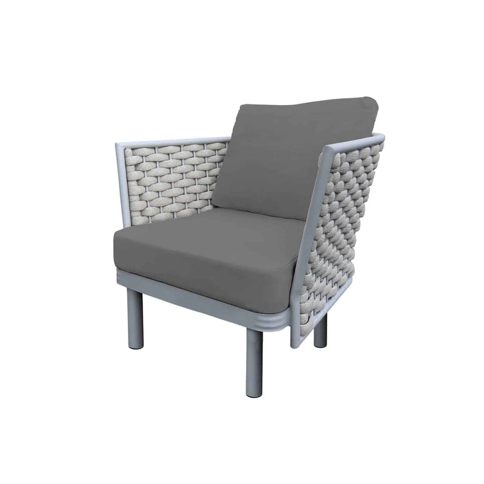 Laguna Club Chair (Silver Durarope)