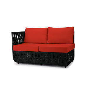 San Juan Left Arm Loveseat (Black Durastrap)