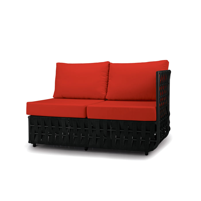 San Juan Right Arm Loveseat (Black Durastrap)