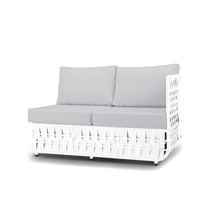 San Juan Right Arm Loveseat (White Durastrap)