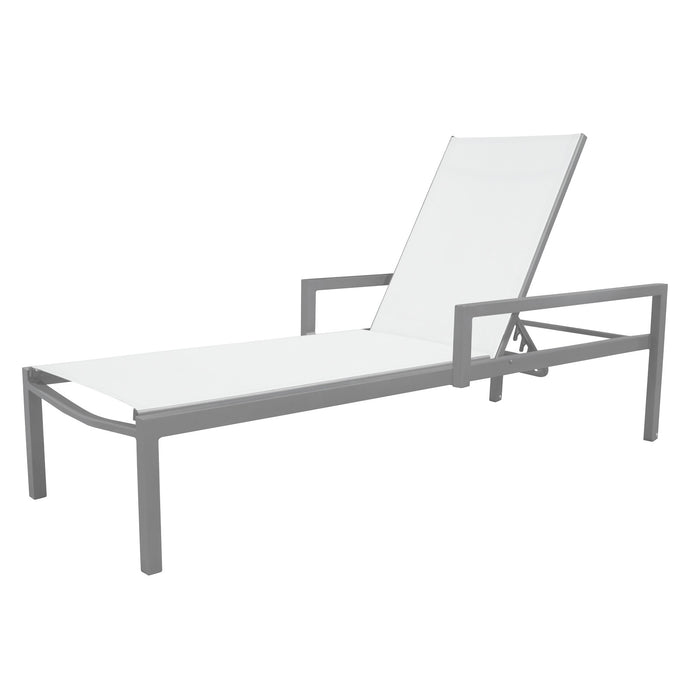 Florence Chaise with Arms - Kessler Silver