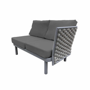 Laguna Right Arm Loveseat (Silver Durarope) | Your Patio Store