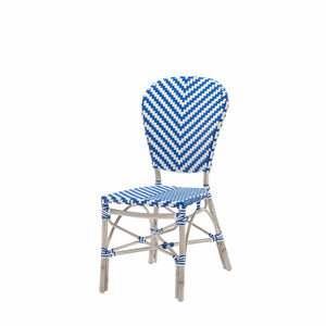 Peoria Vintage Dining Side Armless Chair-Blue
