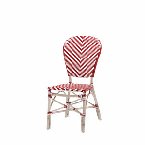 Peoria Vintage Dining Side Armless Chair-Red