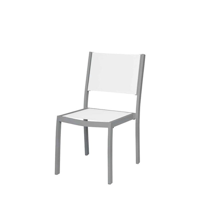 Florence Dining Side Armless Chair - Kessler Silver