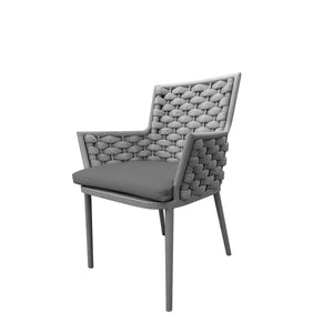 Laguna Dining Arm Chair (Silver Durarope) | Your Patio Store