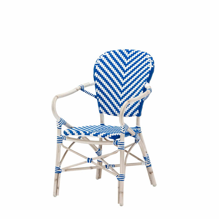 Peoria Vintage Dining Arm Chair - Blue