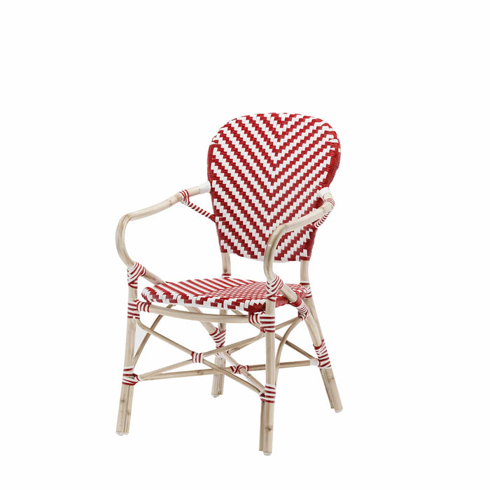 Peoria Vintage Dining Arm Chair-Red