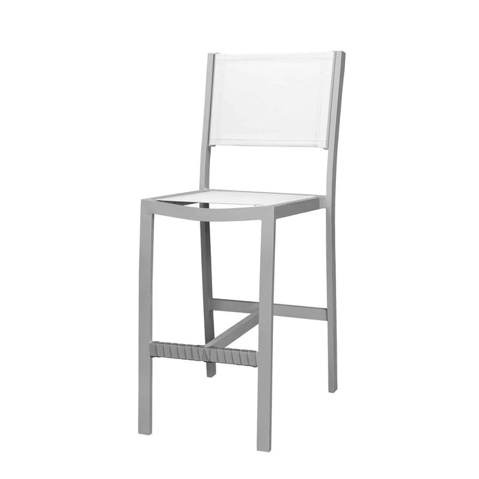 Florence Bar Side Armless Chair - Kessler Silver