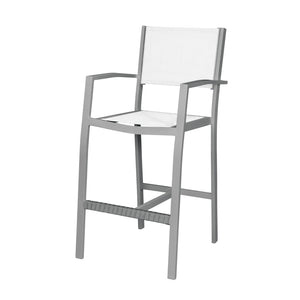 Florence Bar Arm Chair - Pewter Tex