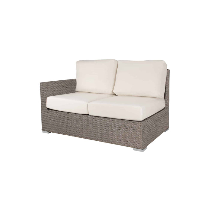 La Jolla Left Arm Loveseat - California Sand w/ Sunbrella Cushion